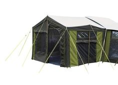 Expand your campground living space with this sturdy canvas tent sunroom made from 320 gram canvas for the Kiwi Camping Moa 10 Family Frame Tent. Family Camping, Tent Camping, Canvas Tent, Dome Tent, Weekends Away, Tents, Sunroom, Kiwi, Outdoor Gear
