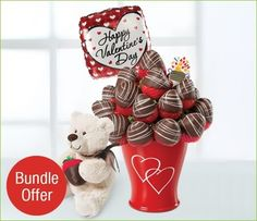 Valentine's Day is only FOUR days away! Gift your sweetheart this delightful arrangement of chocolate-dipped strawberries, a Valentine balloon and an adorable teddy bear for only AED 285!  Buy now from www.theperfectgift.ae and get FREE delivery to Dubai!