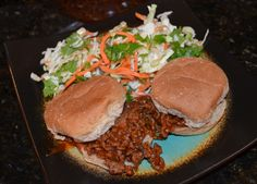 Sweet and sour sloppy joes with sesame slaw   www.thedinnerpages.wordpress.com