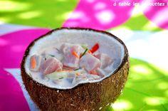 poisson cru, salade tahitienne, recette tahitienne, poisson au lait de coco