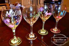 Bachelorette Party Glass Decorating Activity