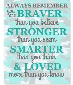 always remember you are braver than you by SweetPeaNurseryArt
