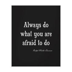 Vintage Emerson Inspirational Courage Quote Gallery Wrapped Canvas