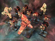 Remnant fleet #ffg #fantasyflight #fantasyflightgames #starwars # xwingrepaints #BFG #lambashuttle  #xwing