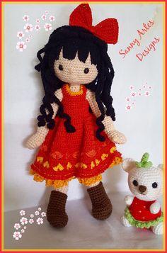 Minha releitura da famosa bonequinha Gorjuss. #sannyartesdesigns #gorjuss #amigurumidoll #crochetdoll #bonecadecrochet