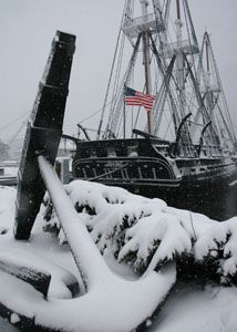 Old Ironsides  Boston in Winter                              …