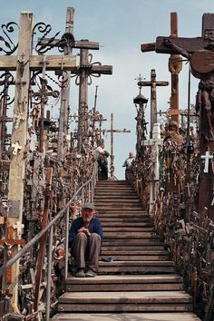 On The Road To Find Out.: Lithuania: Hill of Crosses.