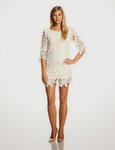 1ac994dac3d shift dress  White Shift Dress Off White Lace Dress
