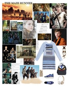 """THE MAZE RUNNER( please read)"" by adelinetaylor ❤ liked on Polyvore featuring Paul Brodie, Trilogy, Kenzo, Fendi and Casetify"