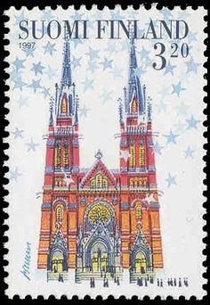 Joulupostimerkki 1997 3/3 - Helsingin Johanneksen kirkko