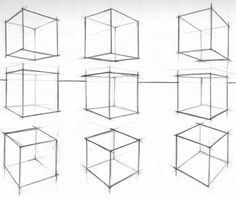 Drawing Tutorial How To Draw A Cube In Perspective Because there are no measuring Basic Drawing, Drawing Skills, Drawing Techniques, Perspective Drawing Lessons, Perspective Art, 3d Drawing Tutorial, Zentangle, Academic Drawing, Geometric Drawing