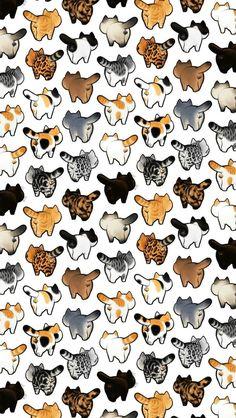 39 Cute Cat Wallpaper for Cat People wallpaper,cat wallpaper,cat,pet Cat Pattern Wallpaper, Cute Cat Wallpaper, Cute Wallpaper Backgrounds, Animal Wallpaper, Cartoon Wallpaper, Cute Wallpapers, Phone Wallpapers, Cat Background, Jolie Photo