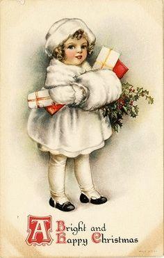 christmas cards, christma card, vintage christmas, vintag christma, antiqu postcard, vtg antiqu, victorian christmas, antique postcards, white fur