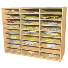 15 Space Wall Mounted Pigeon Hole Unit Office Shelves