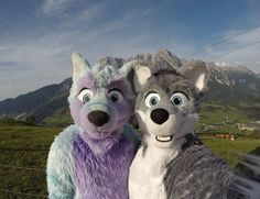 Me and my good friend Arco Fluffypaw in Austria last week :3 We made a funny decision when we've been there in #Austria....like: Hey the weather looks bad for the next two days...lets drive 10 hours to #Paris and enjoy the sun there! .... O.K.! :D 2488 km on a weekend :3 #FursuitFriday