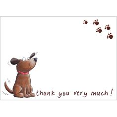 What a cute doggy! Love these thank you cards.