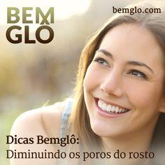 """Saiba como diminuir os poros dilatados do rosto, comuns em casos de retenção de líquido e pele oleosa. Confira mais um """"Dicas bemglô""""! #bemglo #dicasbemglo #diminuindoosporos"""
