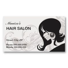 Purple and black hair salon business cards black hair salons hair salon business card choose your color reheart Image collections