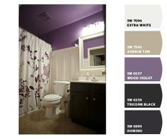 guest bathroom colors (I'd like a paler plum, but this is pretty).