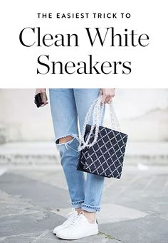 The Easiest Way to Clean White Sneakers (Using Things Under Your Kitchen Sink) via @PureWow