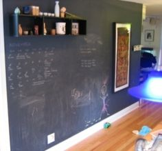 I am so painting a wall in my home with chalkboard paint!!<3