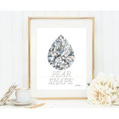 Pear Shape Diamond Print