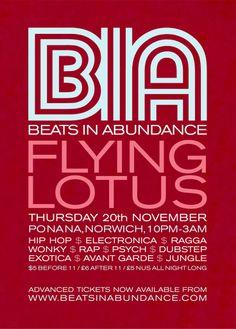 Flying Lotus Flyer Back