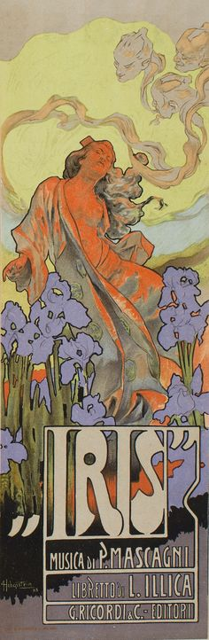 "Adolf Hohenstein ""Iris"" | Museu Nacional d'Art de Catalunya"