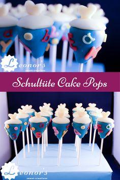 Schultüten Cake Pops! Sind Sie bereit für den ersten Schultag?