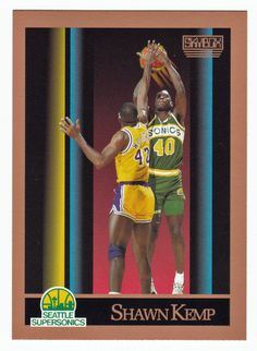 Shawn Kemp RC # 268 - 1990-91 Skybox Basketball NBA Rookie