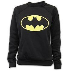 a1d7c5565d5edf Ladies Sweatshirt Womens Top Jumper Batman Superman Logo Print Fleece  Casual New  Amazon.co.uk  Clothing