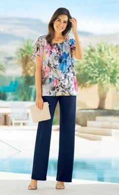 www.afibel.pl  CAMOEL - lekka, kobieca tunika tiulowa. NIRINA - spodnie na każdą okazję. | Afibel Kolekcja Wiosna/Lato #afibel #modadamska