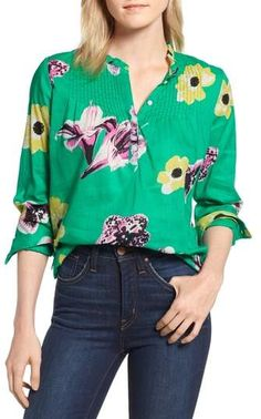 0db758f7f25 Ruffle Popover Top  floral pretty printed Nordstrom Sale
