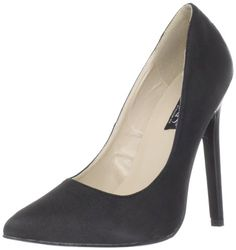 Heel Height: Approx. 5 Tall. This classic stiletto pump features a pointed toe and a 5 inch heel.