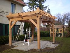 timber frame pergola - Google Search