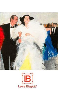 Laura Biagiotti -Gruau Lifestyle Illustrations, Fashion Illustration Sketches, Vintage Glamour, Vintage Ads, Art Nouveau Poster, Rene Gruau, David Downton, Laura Biagiotti, Fashion Forever