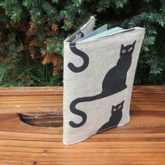 A passport sleeve with a whimsical cats design. Passport Cover, Cat Design, Liberty, Whimsical, Vibrant, Polka Dots, Pouch, Reusable Tote Bags, Cats