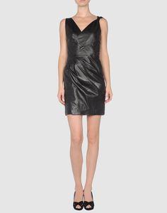 classy leather dress