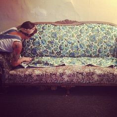 reupholstering Mary's couch