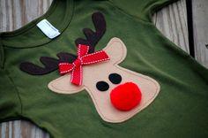 Christmas/holiday reindeer shirt for kids