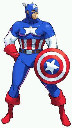 Marvel Heroes, Marvel Comics, Batman Wallpaper, Portfolio, Street Fighter, Captain America, Comic Art, Pop Culture, Character Design