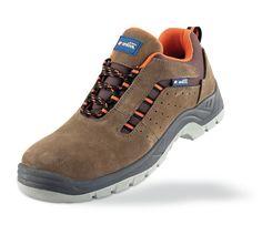 @marcaproteccion Zapato mod. LUSITANIA. Zapato piel serraje marrón S1P  Metal Free con suela de Poliuretano doble densidad. Aplicaciones: Uso General (Calzado de Seguridad) y en trabajos donde se requiera calzado sin partes metálicas no conductoras (Metal Free), con un alto coeficiente anti-deslizamiento (SRC) o se necesite un calzado más ligero (con protecciones no metálicas) y más flexible (con plantilla anti-perforación no metálica).  Características y ventajas: Piel serraje combinada…