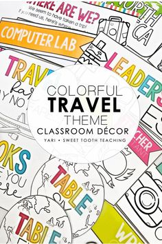 Perfect classroom decor kit for travel lovers! Includes welcome signs, table numbers, alphabet and number posters, classroom jobs, birthday charts, and much more! Get ready for back to school season. Elementary Classroom Themes, Classroom Hacks, Classroom Decor Themes, Number Posters, Birthday Charts, Class Activities, Your Teacher, Travel Themes, Teaching Resources