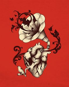 Listen to Your Heart by enkel dika - first tattoo :)