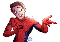 Aww Spidey! <<< Why does he have to be so darn cute. Like, the actors are good looking, but it's always the character I fall in love with. Peter Parker is just amazing.
