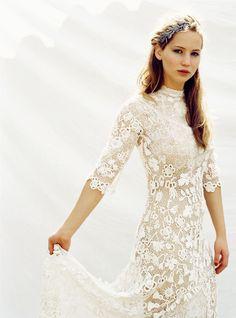 Jennifer Lawrence - simple bridal style  www.foreveryminute.com        Luxury Silk Lounge and Sleepwear