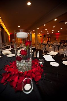 wedding rose centerpieces