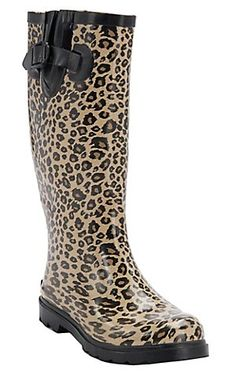 Corky's® Women's Cheetah Sinshine Round Toe Rain Boots: Cheetahs, Rainboots, Women S Cowboy Rain Boots, Chelsea, Shoe Boots, Shoe Bag, Women's Shoes, Stylish Boots, Rubber Rain Boots, Me Too Shoes, Footwear