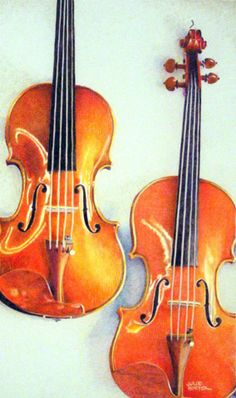 "Colored Pencil drawing: ""Violins"""