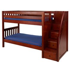 Looking for Top-of-the-Line Wooden Bunk Beds for Kids? Explore our selection of Stylish Solid Wood Bunk Beds Twin, Full, Triple, Quad, Futon Styles & Sizes. Low Bunk Beds, Double Bunk Beds, Bunk Beds With Stairs, Kids Bunk Beds, Solid Wood Bunk Beds, Wooden Bunk Beds, Childrens Bunk Beds, Bedding Inspiration, Bunk Bed Designs